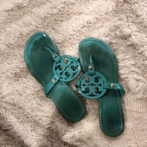 Turquoise Tory Burch Sandals